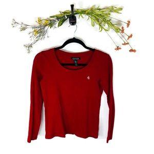 Lauren Ralph Lauren | L/S T-Shirt Red Size Small